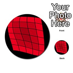 Red Abstraction Multi Purpose Cards (round)  by Valentinaart