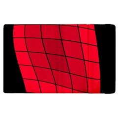 Red Abstraction Apple Ipad 2 Flip Case by Valentinaart