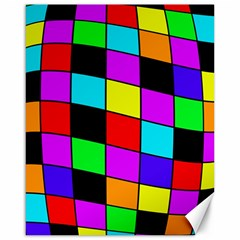 Colorful Cubes  Canvas 16  X 20   by Valentinaart