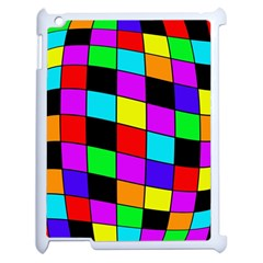 Colorful Cubes  Apple Ipad 2 Case (white) by Valentinaart