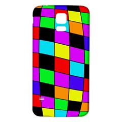 Colorful Cubes  Samsung Galaxy S5 Back Case (white) by Valentinaart