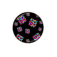Flying  Colorful Cubes Hat Clip Ball Marker (10 Pack) by Valentinaart