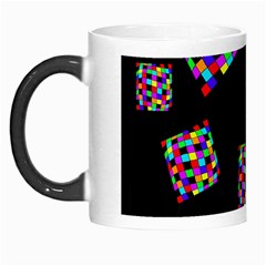 Flying  Colorful Cubes Morph Mugs by Valentinaart