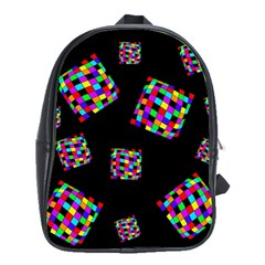 Flying  Colorful Cubes School Bags(large)  by Valentinaart