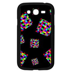 Flying  Colorful Cubes Samsung Galaxy Grand Duos I9082 Case (black) by Valentinaart