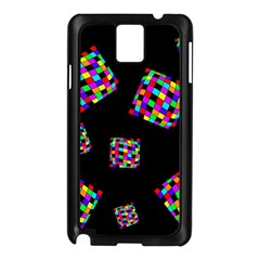 Flying  Colorful Cubes Samsung Galaxy Note 3 N9005 Case (black) by Valentinaart