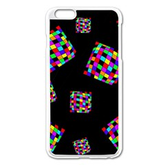 Flying  Colorful Cubes Apple Iphone 6 Plus/6s Plus Enamel White Case by Valentinaart