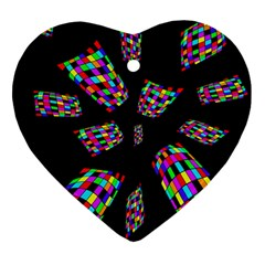 Colorful Abstraction Heart Ornament (2 Sides) by Valentinaart