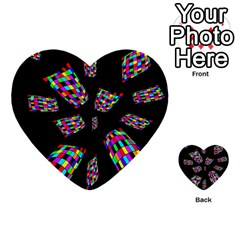 Colorful Abstraction Multi Purpose Cards (heart)