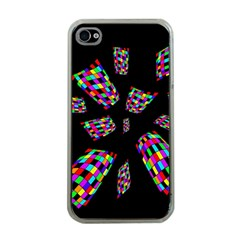 Colorful Abstraction Apple Iphone 4 Case (clear) by Valentinaart