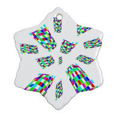 Colorful Abstraction Ornament (snowflake)  by Valentinaart