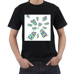 Colorful Abstraction Men s T Shirt (black) (two Sided) by Valentinaart