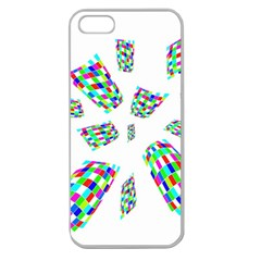 Colorful Abstraction Apple Seamless Iphone 5 Case (clear) by Valentinaart