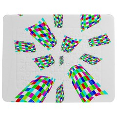 Colorful Abstraction Jigsaw Puzzle Photo Stand (rectangular) by Valentinaart
