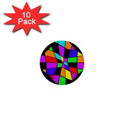 Abstract Colorful Flower 1  Mini Buttons (10 Pack)  by Valentinaart