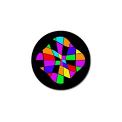 Abstract Colorful Flower Golf Ball Marker by Valentinaart