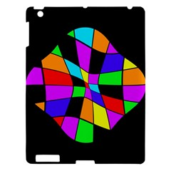 Abstract Colorful Flower Apple Ipad 3/4 Hardshell Case by Valentinaart