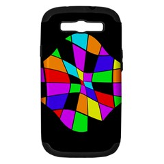 Abstract Colorful Flower Samsung Galaxy S Iii Hardshell Case (pc+silicone) by Valentinaart