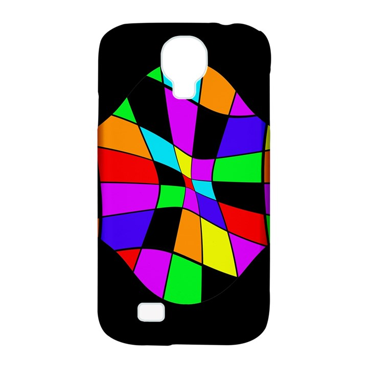 Abstract colorful flower Samsung Galaxy S4 Classic Hardshell Case (PC+Silicone)