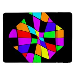 Abstract Colorful Flower Samsung Galaxy Tab Pro 12 2  Flip Case by Valentinaart
