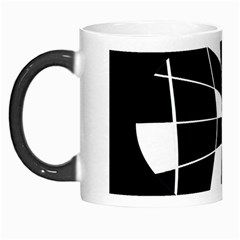 Black And White Abstract Flower Morph Mugs by Valentinaart