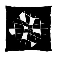 Black And White Abstract Flower Standard Cushion Case (one Side) by Valentinaart