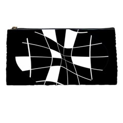 Black And White Abstract Flower Pencil Cases