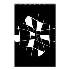 Black And White Abstract Flower Shower Curtain 48  X 72  (small)  by Valentinaart