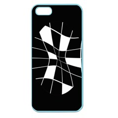 Black And White Abstract Flower Apple Seamless Iphone 5 Case (color) by Valentinaart