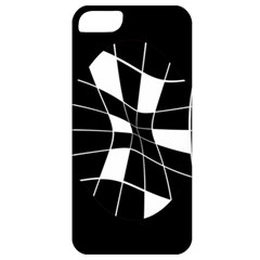 Black And White Abstract Flower Apple Iphone 5 Classic Hardshell Case by Valentinaart