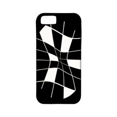 Black And White Abstract Flower Apple Iphone 5 Classic Hardshell Case (pc+silicone) by Valentinaart