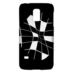 Black and white abstract flower Galaxy S5 Mini by Valentinaart