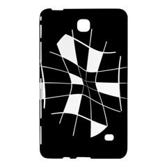 Black And White Abstract Flower Samsung Galaxy Tab 4 (7 ) Hardshell Case  by Valentinaart