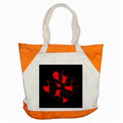 Red Abstract Flower Accent Tote Bag by Valentinaart