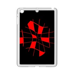 Red Abstract Flower Ipad Mini 2 Enamel Coated Cases by Valentinaart