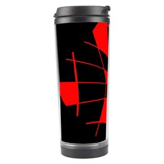 Red abstract flower Travel Tumbler by Valentinaart