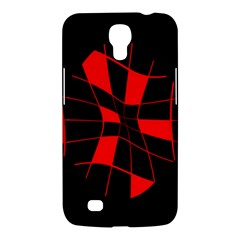 Red Abstract Flower Samsung Galaxy Mega 6 3  I9200 Hardshell Case by Valentinaart