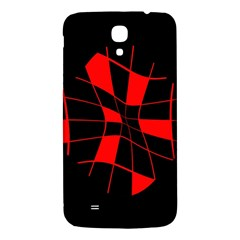 Red Abstract Flower Samsung Galaxy Mega I9200 Hardshell Back Case by Valentinaart
