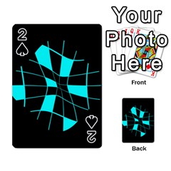 Blue Abstract Flower Playing Cards 54 Designs