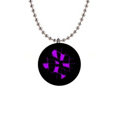 Purple Abstract Flower Button Necklaces by Valentinaart