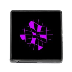 Purple Abstract Flower Memory Card Reader (square) by Valentinaart