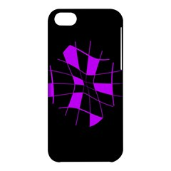 Purple Abstract Flower Apple Iphone 5c Hardshell Case by Valentinaart