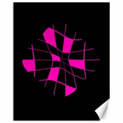 Pink Abstract Flower Canvas 11  X 14   by Valentinaart