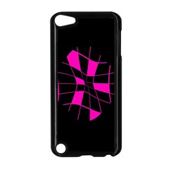 Pink abstract flower Apple iPod Touch 5 Case (Black) by Valentinaart