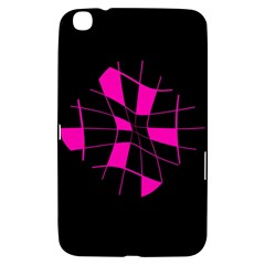 Pink Abstract Flower Samsung Galaxy Tab 3 (8 ) T3100 Hardshell Case  by Valentinaart