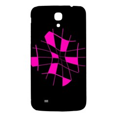 Pink Abstract Flower Samsung Galaxy Mega I9200 Hardshell Back Case by Valentinaart