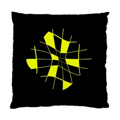 Yellow Abstract Flower Standard Cushion Case (one Side) by Valentinaart