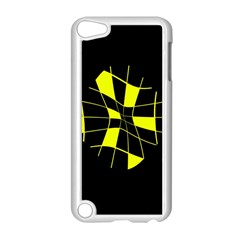 Yellow Abstract Flower Apple Ipod Touch 5 Case (white) by Valentinaart