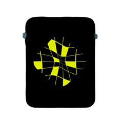 Yellow Abstract Flower Apple Ipad 2/3/4 Protective Soft Cases by Valentinaart