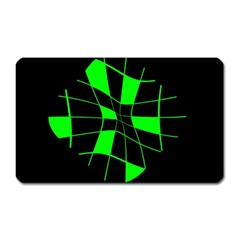 Green abstract flower Magnet (Rectangular) by Valentinaart